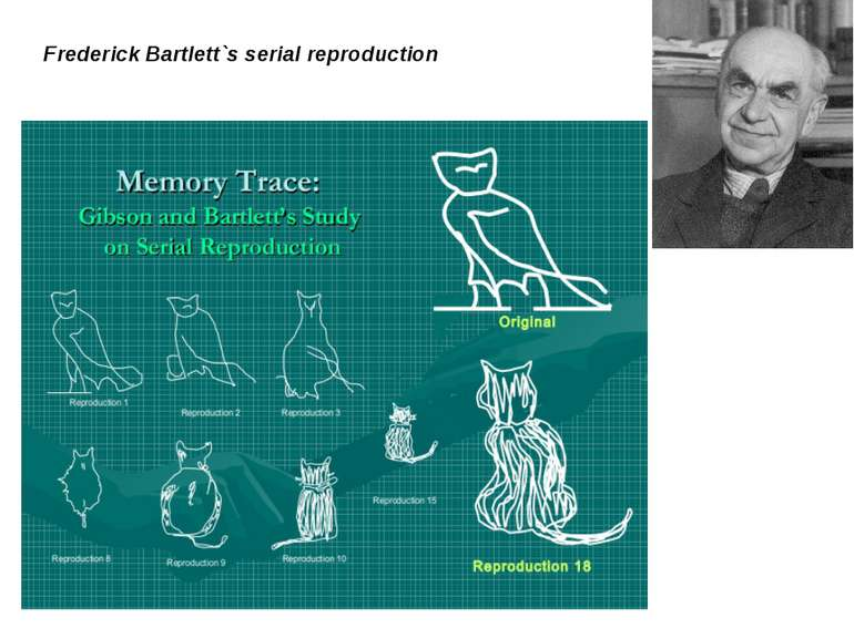Frederick Bartlett`s serial reproduction