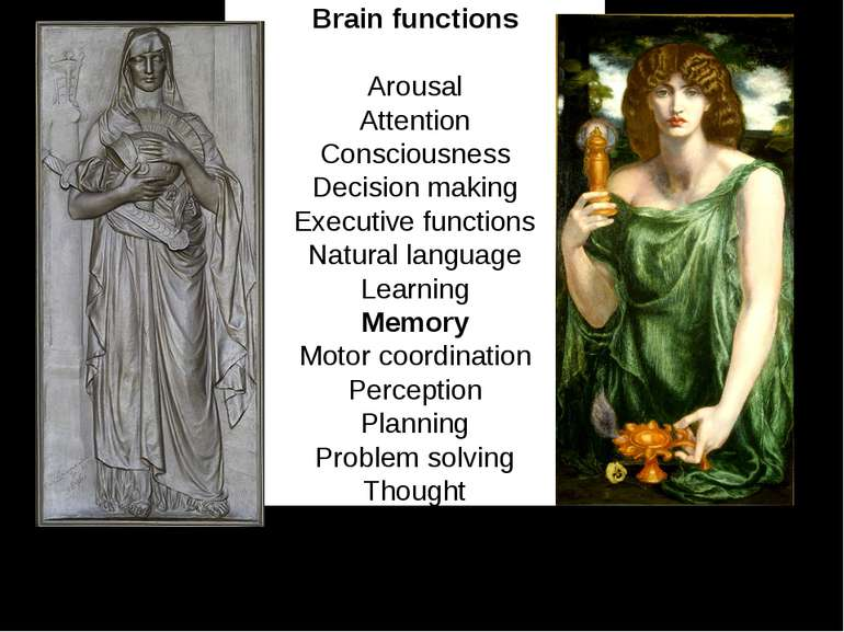 Brain functions Arousal Attention Consciousness Decision making Executive fun...