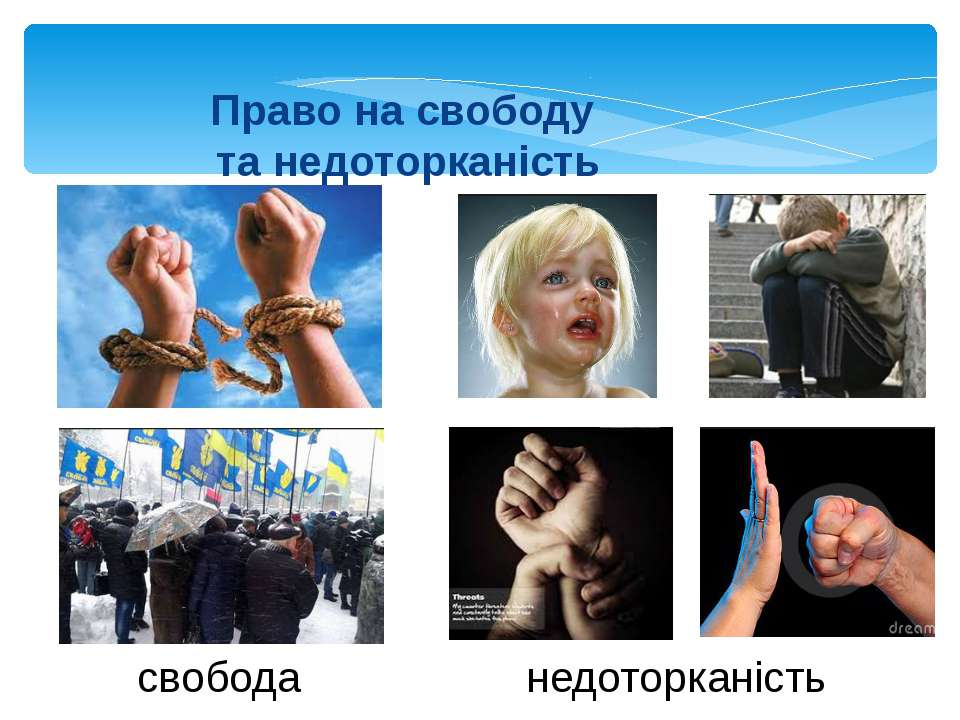 Право на свободу та недоторканість свобода недоторканість