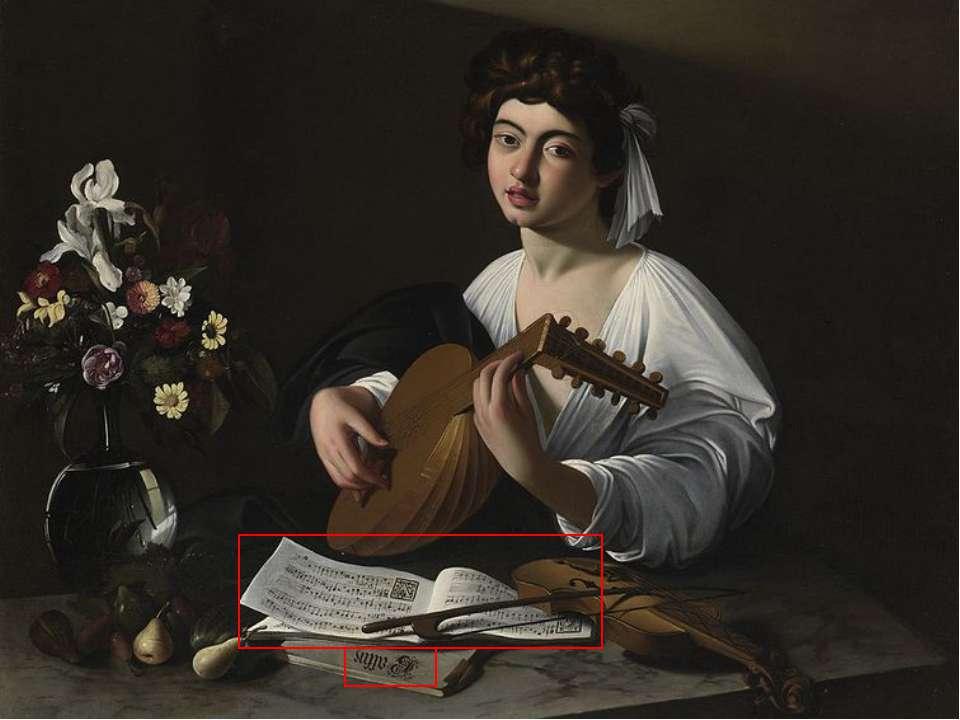 Сюжет На всіх трьох версіях картини зображений дуже молодий чоловік, майже хл...