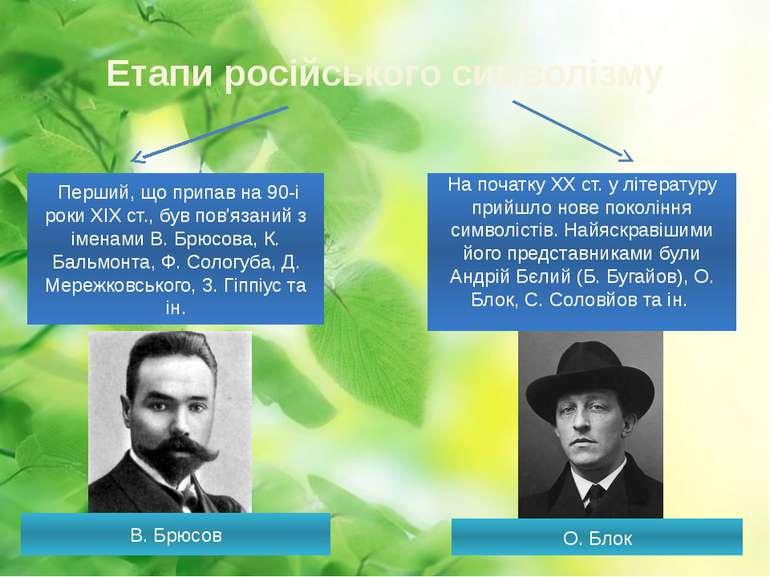 Етапи російського символізму Перший, що припав на 90-і роки XIX ст., був пов...