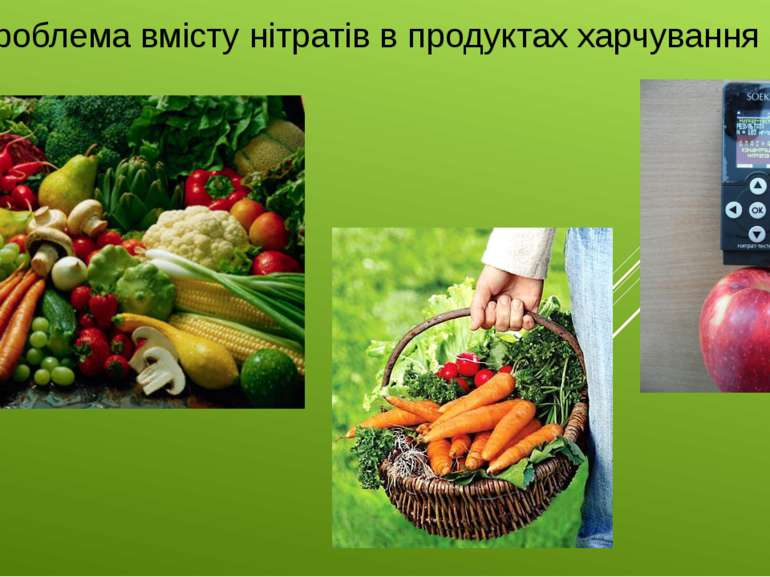 Проблема вмісту нітратів в продуктах харчування