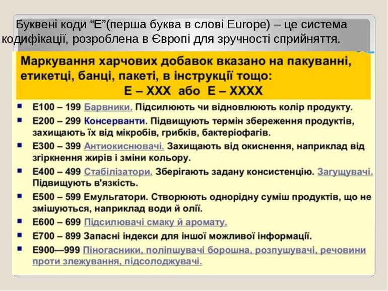 """Буквені коди """"Е""""(перша буква в слові Europe) – це система кодифікації, розроб..."""