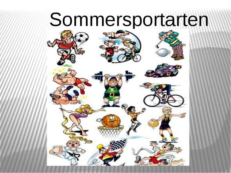 Sommersportarten