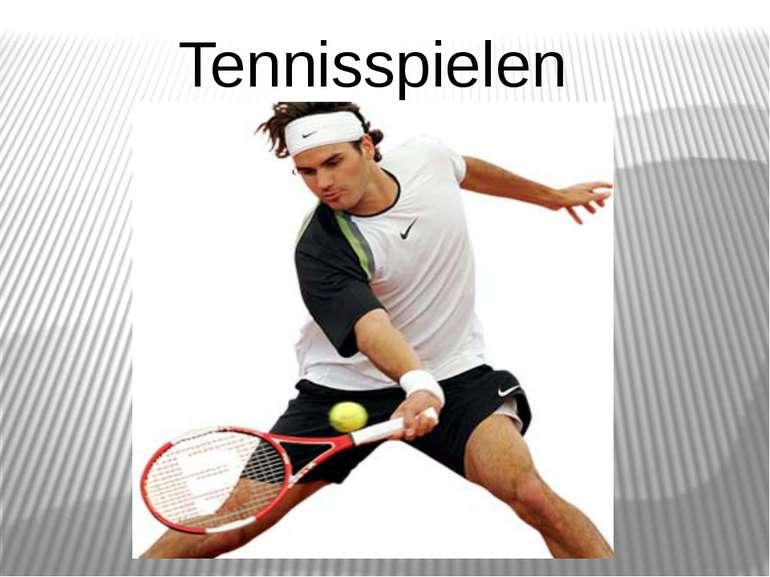 Tennisspielen