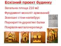 Ескізний проект будинку Загальна площа 210 м2 Фундамент-моноліт армований Зов...
