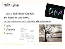 Web - page this is each various document the having its own address. It can c...