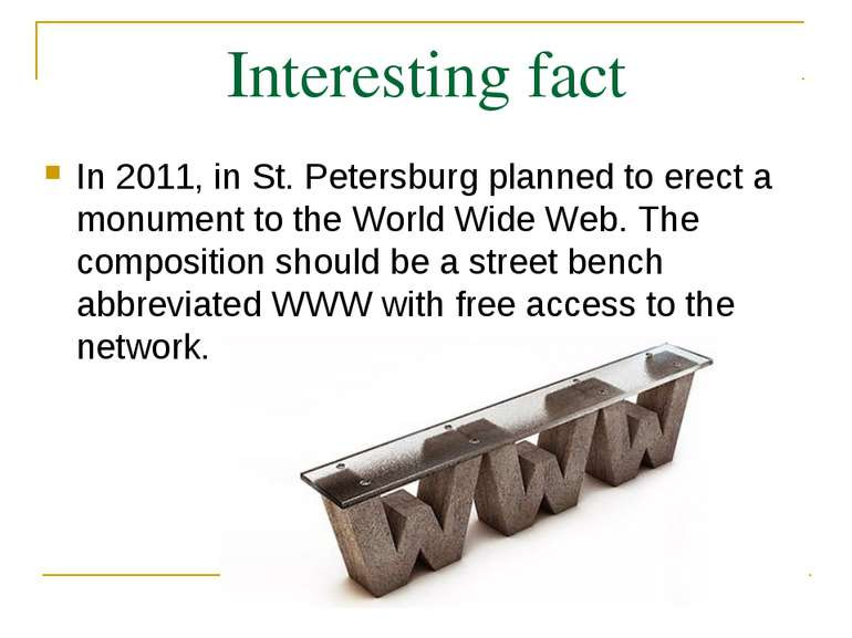 Interesting fact In 2011, in St. Petersburg planned to erect a monument to th...