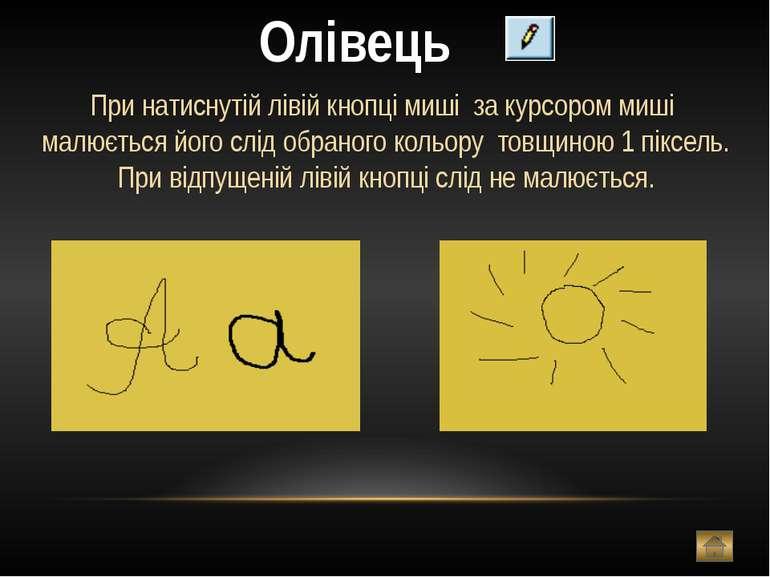 Пензлик Дія схожа на олівець,але можна змінювати форму пензлика-кружок,квадра...