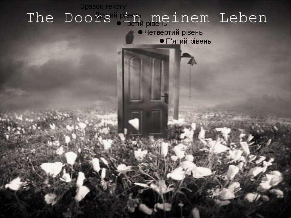 The Doors in meinem Leben