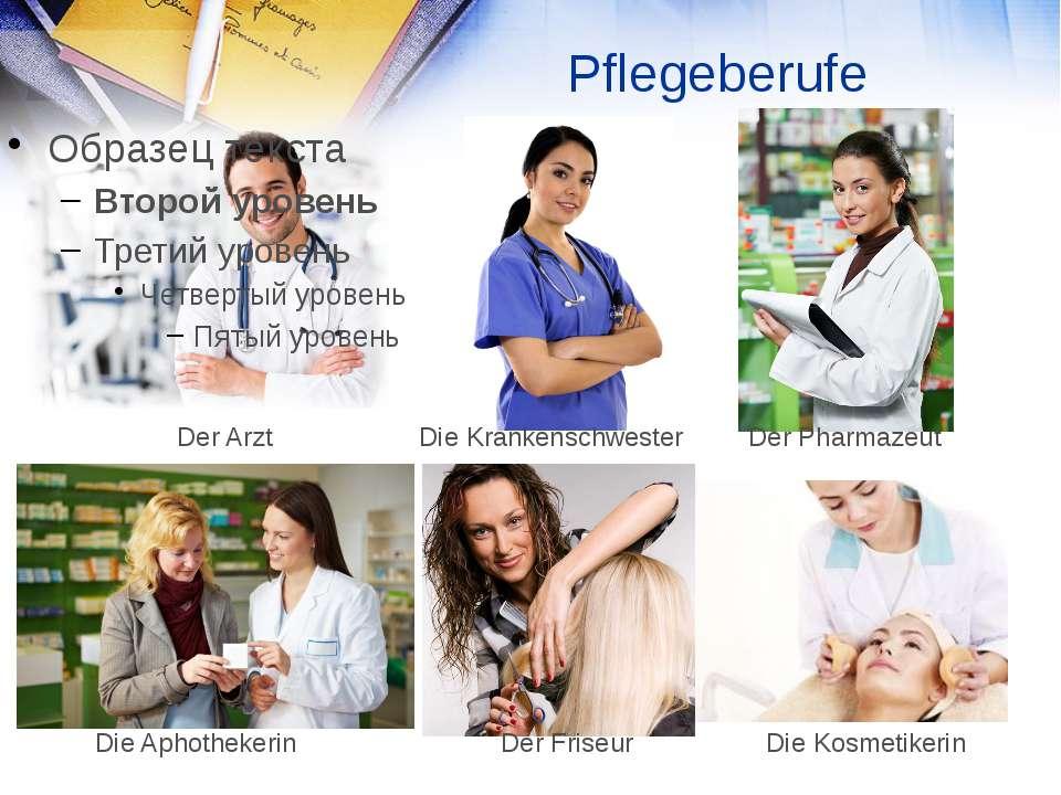 Pflegeberufe Der Arzt Die Krankenschwester Der Pharmazeut Die Aphothekerin Di...