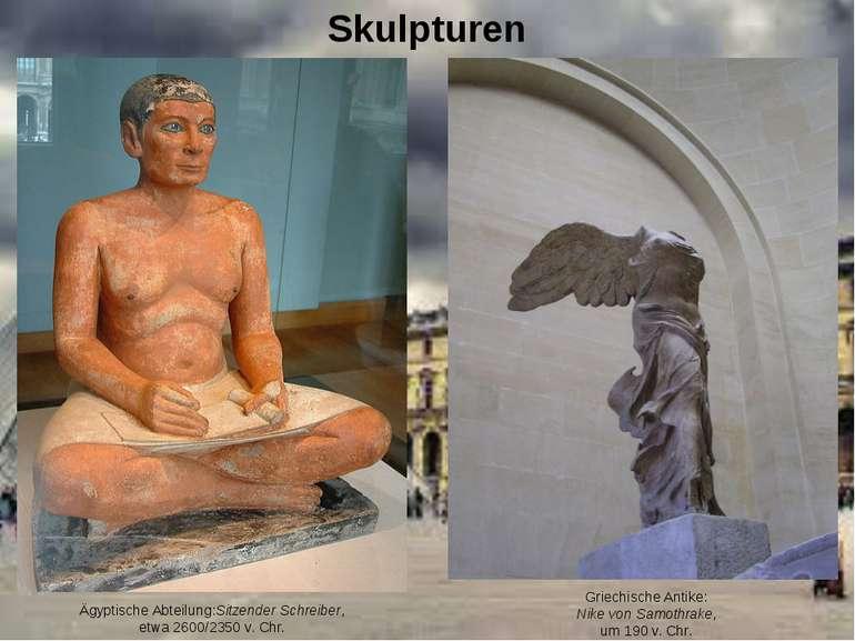 Skulpturen Ägyptische Abteilung:Sitzender Schreiber, etwa 2600/2350 v. Chr. G...