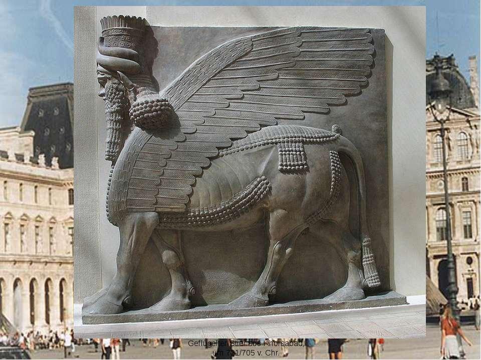 Geflügelter Stier aus Khorsabad, um 721/705 v. Chr.