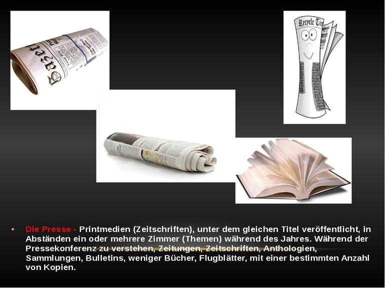 Die Presse - Printmedien (Zeitschriften), unter dem gleichen Titel veröffentl...