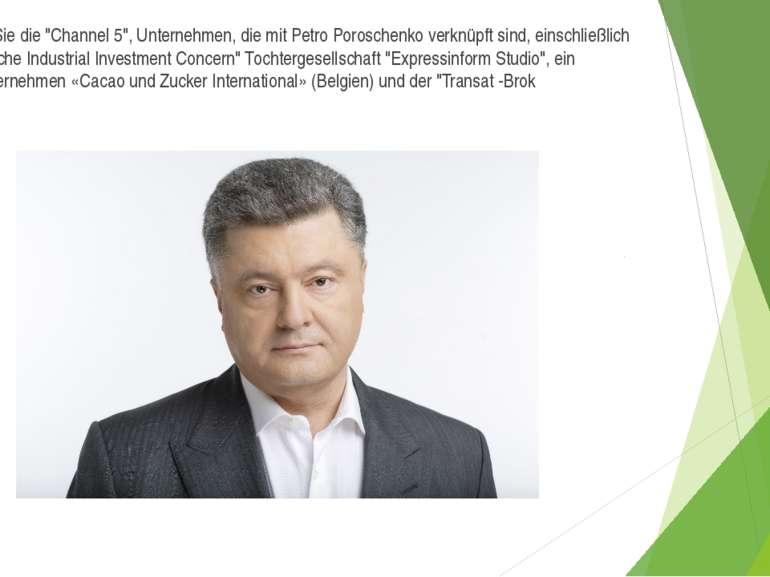 """Steuern Sie die """"Channel 5"""", Unternehmen, die mit Petro Poroschenko verknüpft..."""