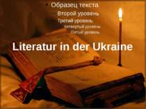 Literatur in der Ukraine
