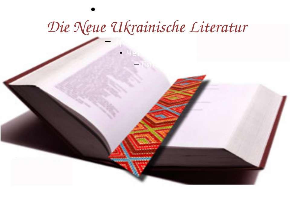 Die Neue Ukrainische Literatur g