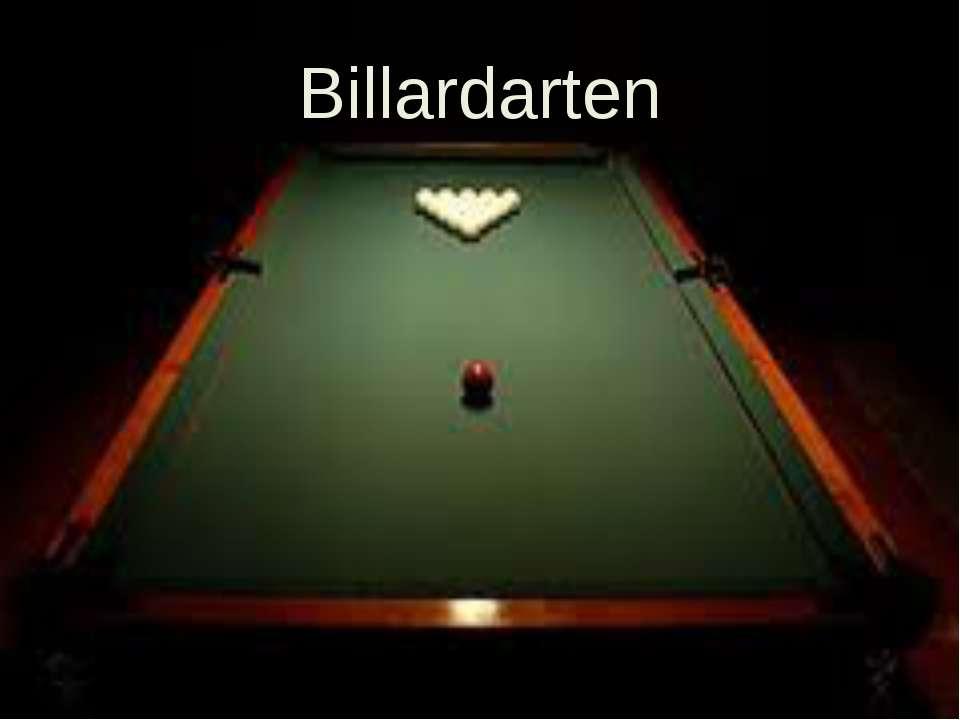Billardarten