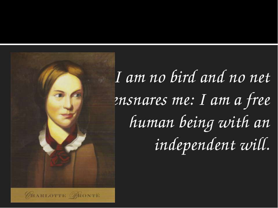 I am no bird and no net ensnares me: I am a free human being with an independ...