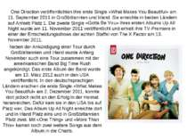 One Direction veröffentlichten ihre erste Single «What Makes You Beautiful» a...