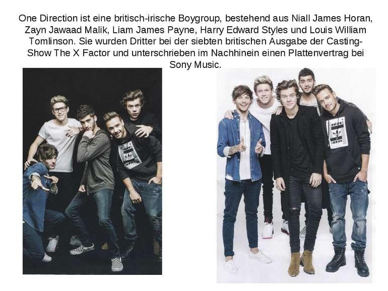 One Direction ist eine britisch-irische Boygroup, bestehend aus Niall James H...