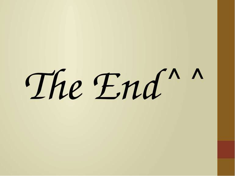 The End^^