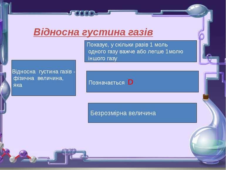 Відносна густина газів - фізична величина, яка Показує, у скільки разів 1 мол...