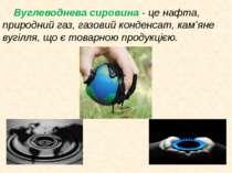 Вуглеводнева сировина- це нафта, природний газ, газовий конденсат, кам'яне в...