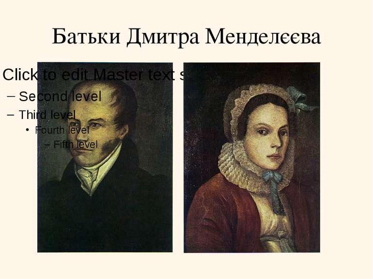 Батьки Дмитра Менделєєва