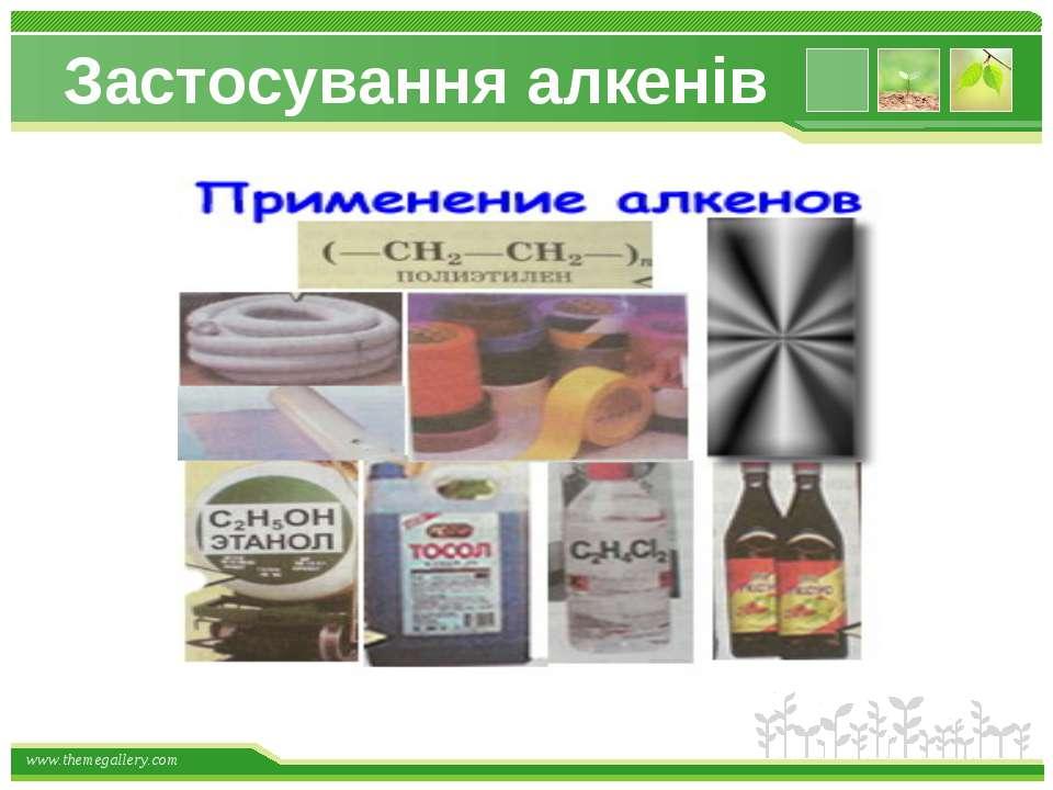 Застосування алкенів www.themegallery.com