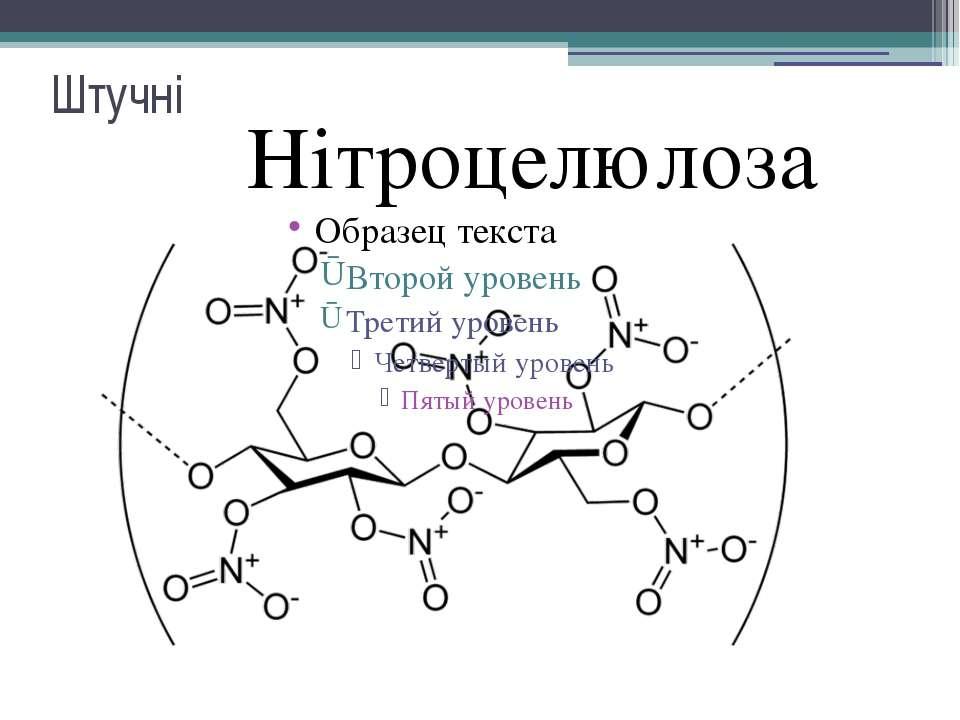 Штучні Нітроцелюлоза