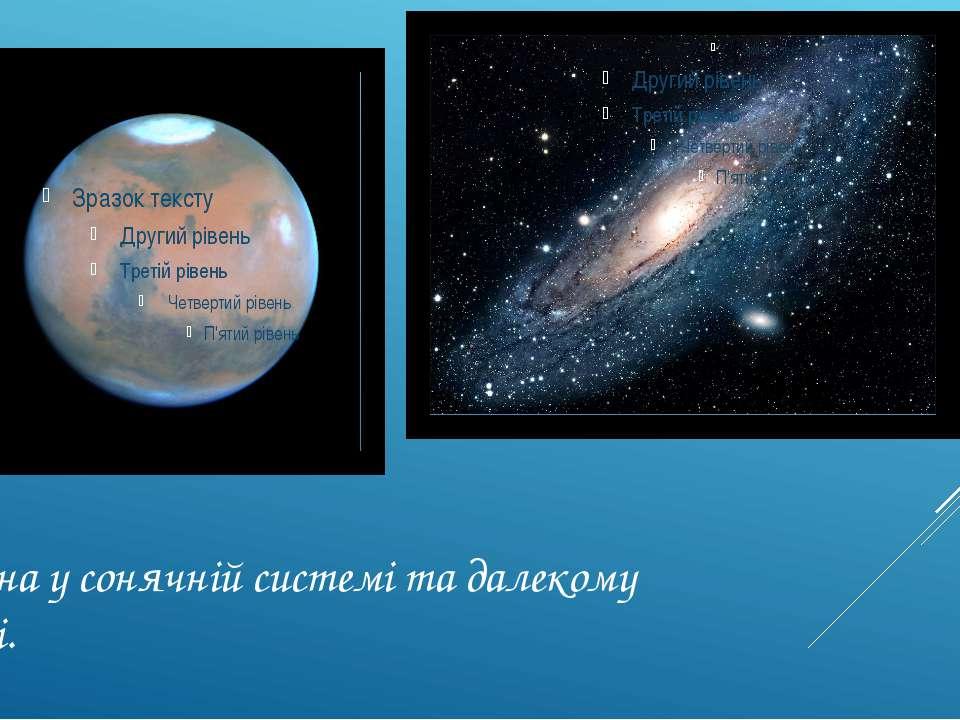 Знайдена у сонячній системі та далекому космосі.