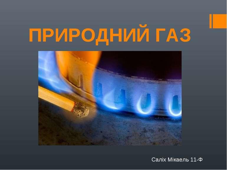 ПРИРОДНИЙ ГАЗ Саліх Мікаель 11-Ф