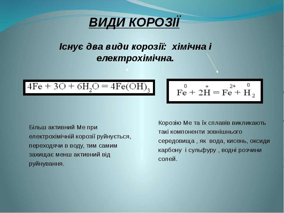 Існує два види корозії: хімічна і електрохімічна. Корозію Ме та їх сплавів ви...