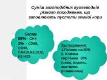 Супутний нафтовий газ Це - суміш вуглеводнів, які виділяються перед виходом н...