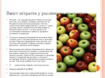 Вміст нітратів у рослинних продуктах. Нітрати — це природні продукти обміну в...