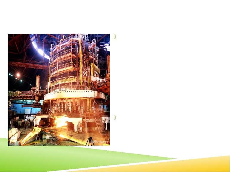Доменний процес Чавун одержують із залізної руди в спеціальних вертикальних п...