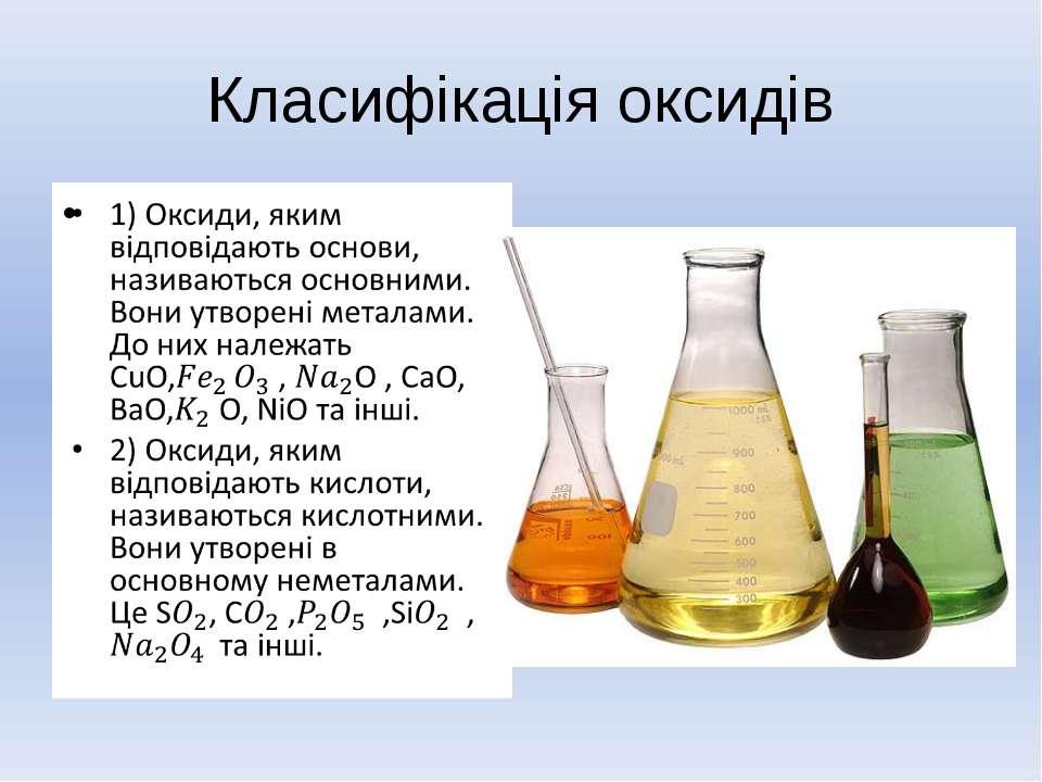 Класифікація оксидів