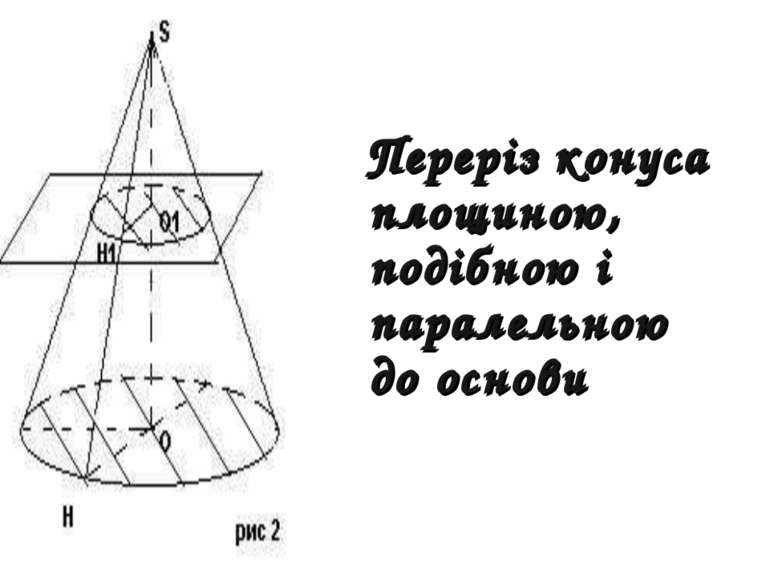 Переріз конуса площиною, подібною і паралельною до основи