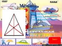 Медіана Медіана трикутника- відрізок,який сполучає вершину із серединою проти...