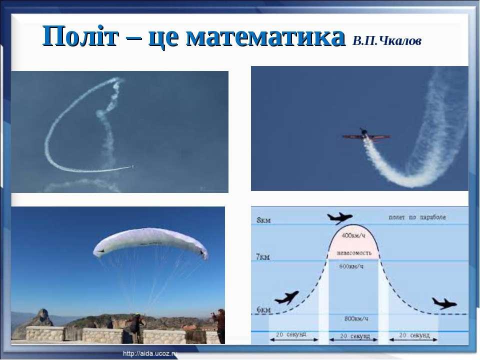 Політ – це математика В.П.Чкалов