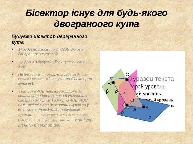 Бісектор існує для будь-якого двограноого кута Будуємо бісектор двогранного к...