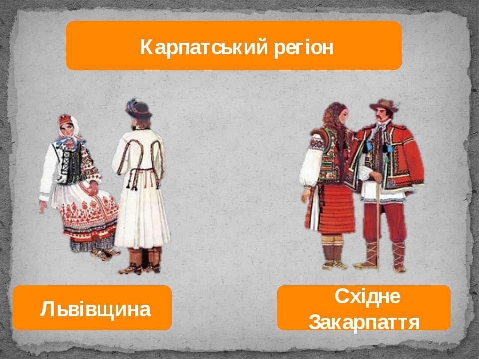 Карпатський регіон Львівщина Східне Закарпаття