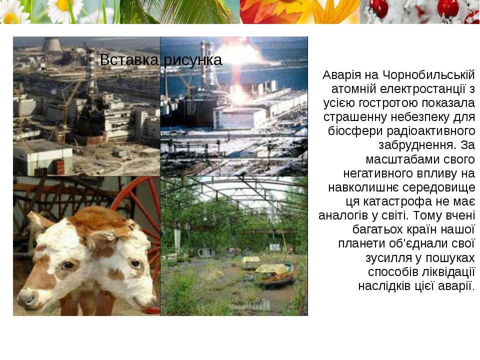 Аварія на Чорнобильській атомній електростанції з усією гостротою показала ст...