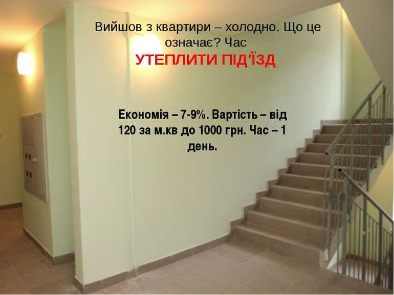 Вийшов з квартири – холодно. Що це означає? Час УТЕПЛИТИ ПІД′ЇЗД Економія –7...