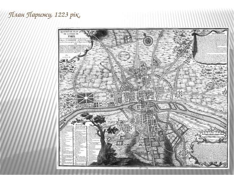 План Парижу, 1223 рік.