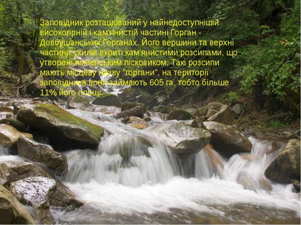 Заповідник розташований у найнедоступнішій високогірній і кам'янистій частині...