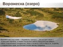 Ворожеска (озеро) Природные памятники Вороже ська (інші назви — Ворожеска, Тр...
