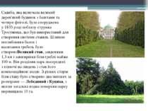 Садиба, яка включала великий дерев'янийбудинокзбаштамита чотири флігелі, ...