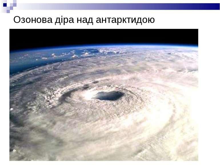 Озонова діра над антарктидою
